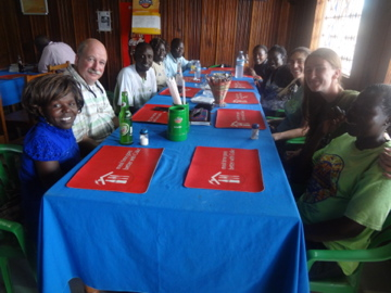 Aid Africa Staff lunch in Gulu