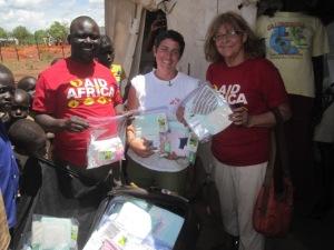Taking birthing kits to Adjumani